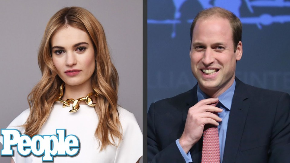 What Happened When Cinderella's Lily James Met Prince William? | PEOPLE
